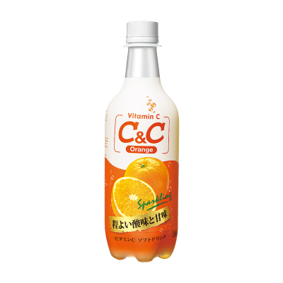 [C&C] Orange Sparkling Drink 500ml