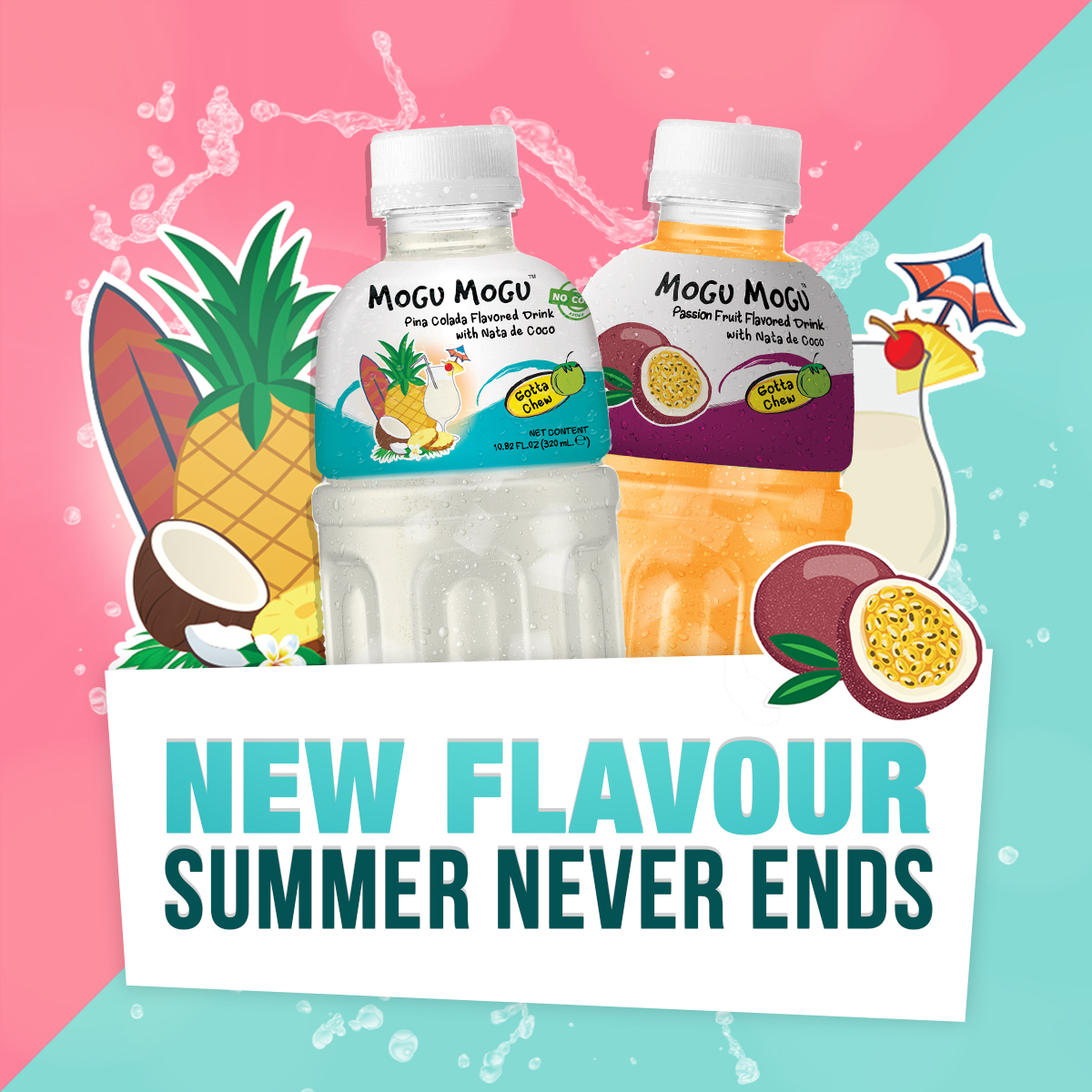 [New Product] Mogu Mogu Pina Colada & Passion Flavour Drink