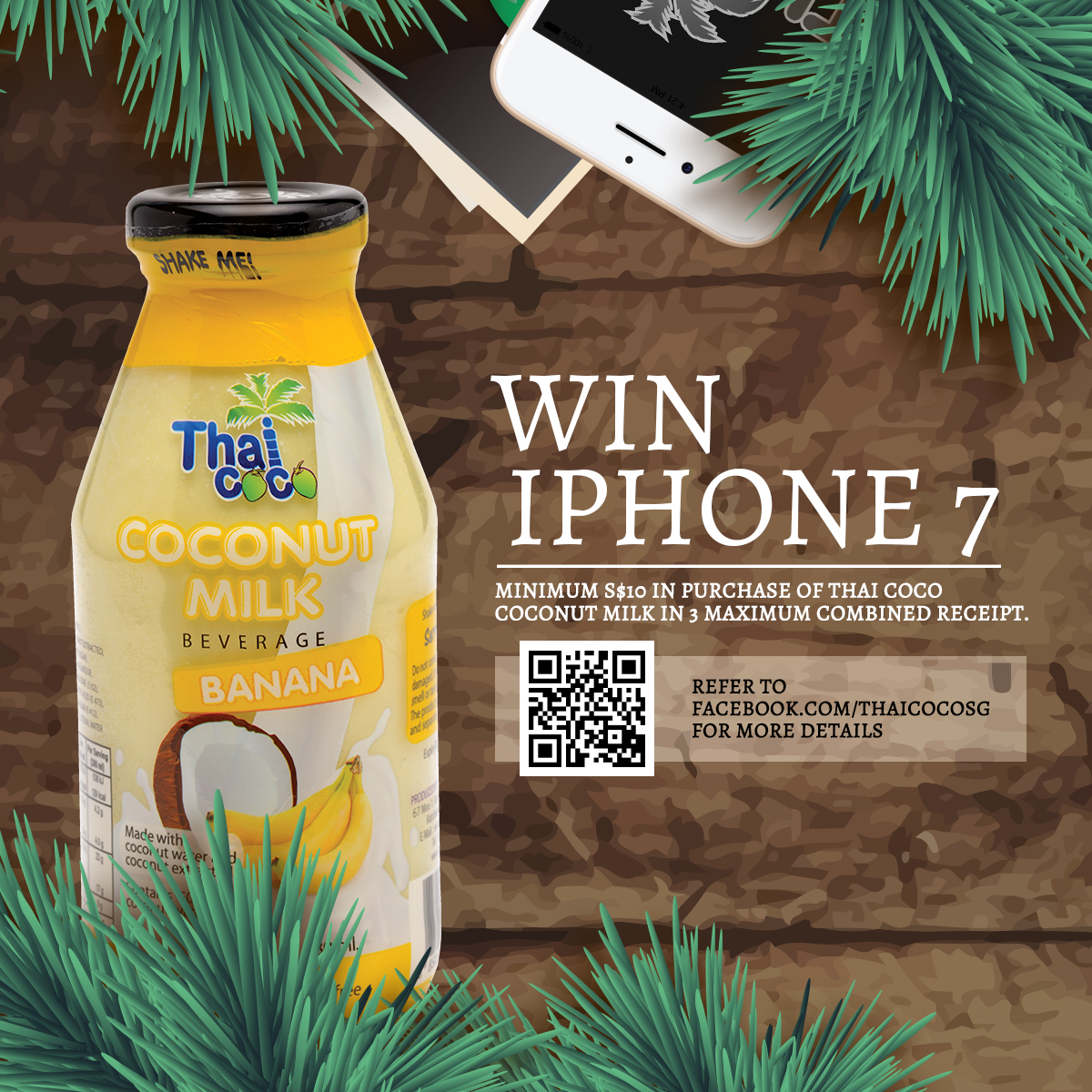 [Win!] IPHONE 7, or get a carton of THAI COCO coconut milk.