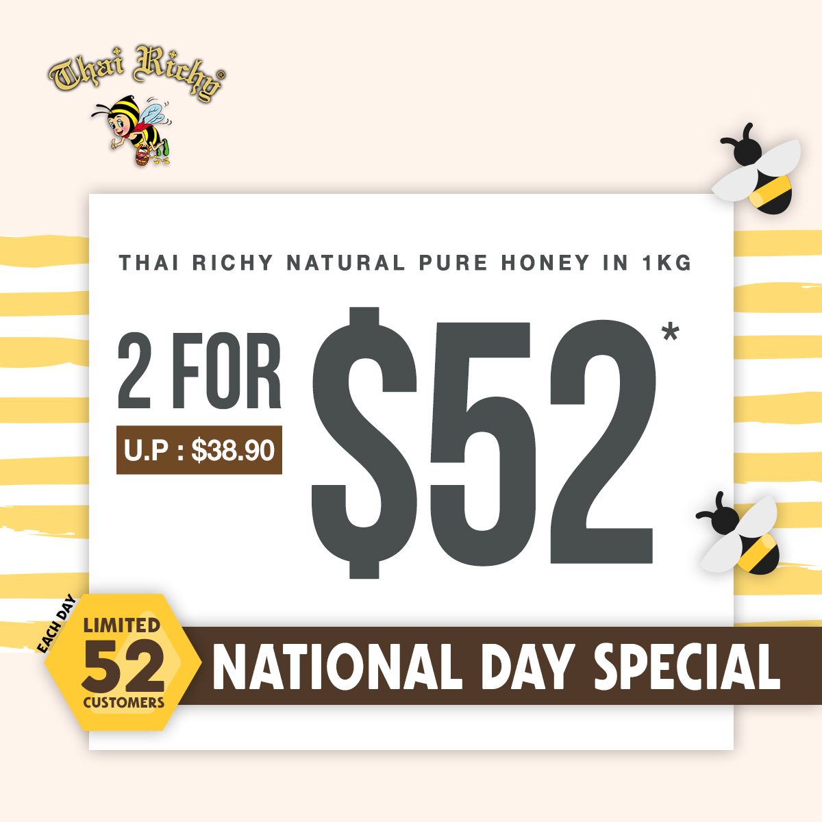 Thai Richy Natural Honey in 1KG Promotion